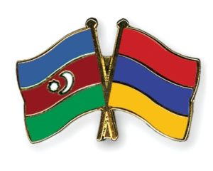 Armenia - Azerbaijan friendly flags