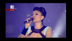 Sofi Marinova on stage in Bulgaria
