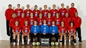 The female Danish national handball team
