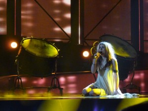 Emmelie de Forest on stage in Dansk Melodi Grand Prix 2013