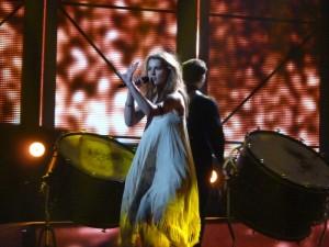 Emmelie de Forest on stage in Dansk Melodi Grand Prix 2013