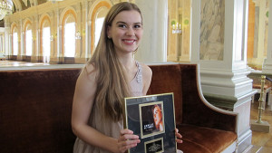Emmelie de Forest with her gold record