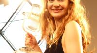 Emmelie de Forest with her winning trophy
