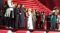 Eurovision 2015 1st Semi Final, all the artists on stage.