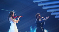Uzari&Maimuna representing Belarus at the Eurovision Song Contest 2015.