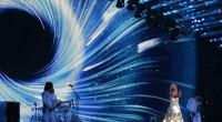 Polina Gagarina representing Russia at the Eurovision Song Contest 2015
