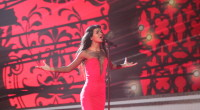 The second rehearsal of Aminata representing Latvia at the Eurovision Song Contest 2015