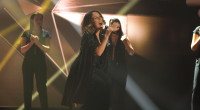Elhaida Dani representing Albania at the Eurovision Song Contest 2015