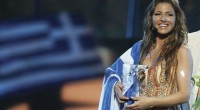 A victorious Helena Paparizou for Greece in 2005.