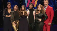 Gina Dirawi with all the co-hosts of 2016 Melodifestivalen