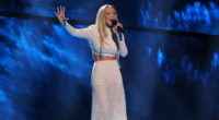 Agnete representing Norway at the first dress rehearsal of the second Semi Final