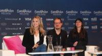 Gabriela Gunčíková from Czech Republic at her press conference in Stockholm