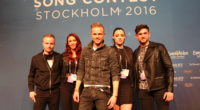 Nicky Byrne from Ireland at his press conference in Stockholm