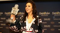 The Eurovision Song Contest winner jamala at the press conference after the final.