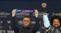 Sergey Lazarev representing Russia at the press conference after Semifinal 1