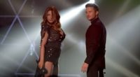 Helena Paparizou and Sergey Lazarev performing together at the 2016 MAD VMAs