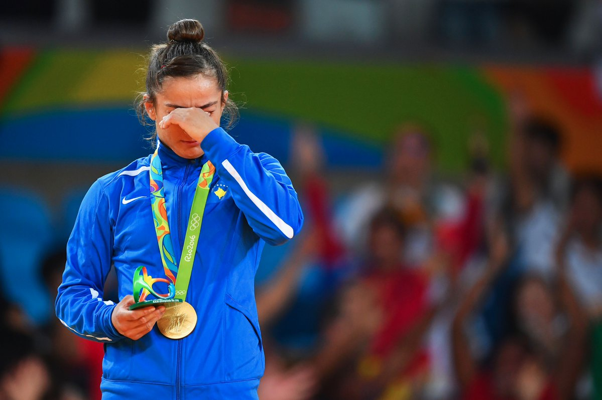 Melinda Kelmendi won the first ever gold medal for Kosovo at the Olympic Games
