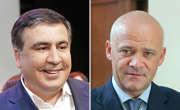 Odesa Governor, Mikhail Saakashvili and Odesa Mayor, GennadyTrukhanov.