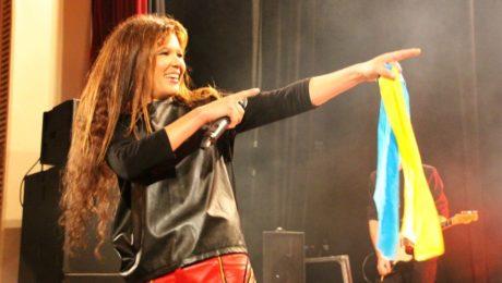 Ruslana performing in London, October 2016