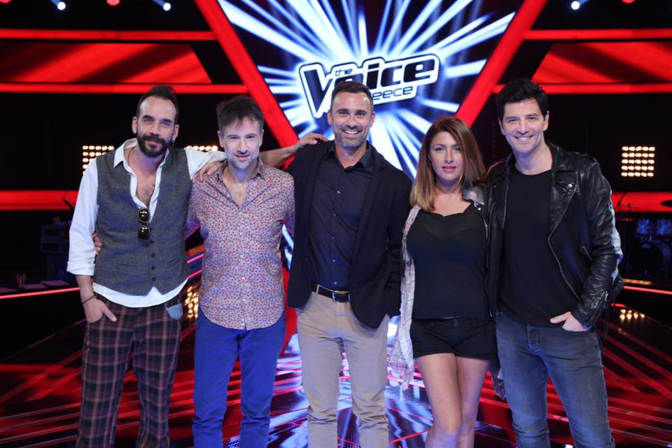 The Voice of Greece judges and presenter