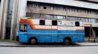 BHRT production bus infront of headquarter