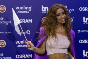 Eleni Foureira as a judge in Greek music show La Banda
